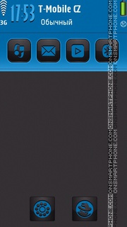Blue Neon S60v5 theme screenshot