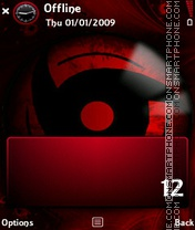 Mangekyou Sharingan tema screenshot