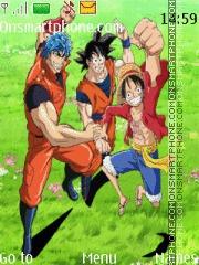 Goku Luffy Toriko theme screenshot