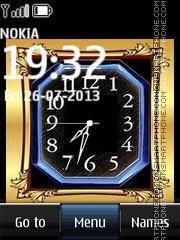 Modern Fashion Dual Clock tema screenshot