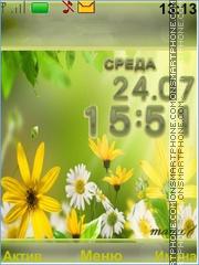 Summer, flowers theme screenshot