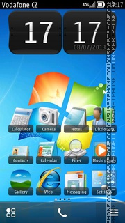 Windows 7 HD 01 es el tema de pantalla