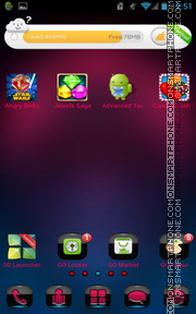 Android Mystic theme screenshot