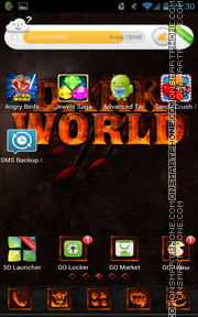 Darkworld theme screenshot