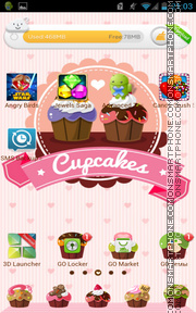 Cupcakes 01 tema screenshot