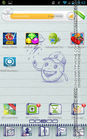 Doodle Book theme screenshot
