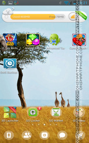 Giraffes in Kenya theme screenshot