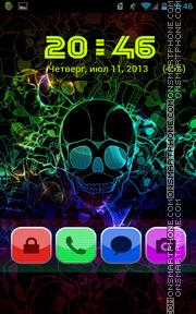 Retro Skull tema screenshot