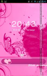 Pink Heart 10 theme screenshot