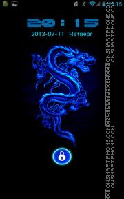 Blue Neon Dragon theme screenshot
