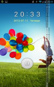 Galaxy S4 Inspired theme screenshot