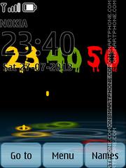 Multicolored Digital Clock theme screenshot