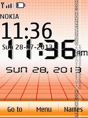 Digital Orange Clock theme screenshot