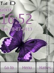 Скриншот темы Purple Butterfly 02