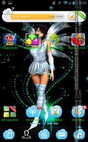 Blue Fairy Dust theme screenshot