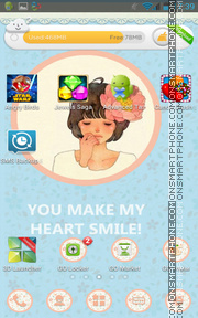 Nice Girl 13 theme screenshot