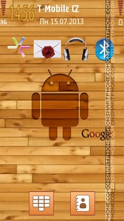 Android Wooden theme screenshot