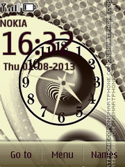 Abstract Clock es el tema de pantalla