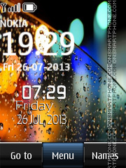 Bookeh Digital Clock theme screenshot