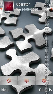 3D Silver Puzzle theme screenshot