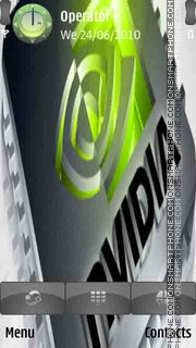 3D Nvidia Logo tema screenshot