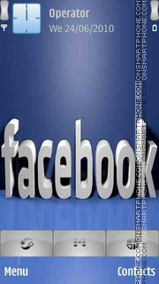 Facebook 3D Logo theme screenshot