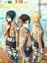 Shingeki No Kyojin theme screenshot