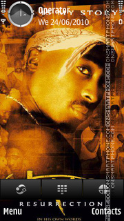 TuPac theme screenshot