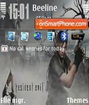 Capture d'écran Resident Evil 06 thème