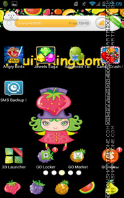 Fruit Kingdom theme screenshot
