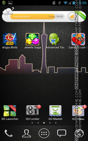 City 09 theme screenshot