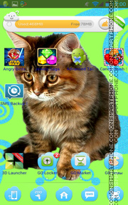 Cute Kitty Cat theme screenshot