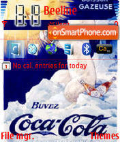 Coca Cola Bear theme screenshot