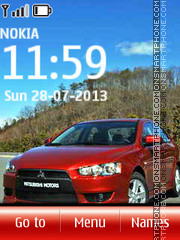 Mitsubishi Lancer 03 theme screenshot