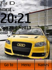 Yellow Audi theme screenshot