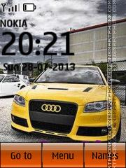 Yellow Audi es el tema de pantalla