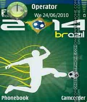 Brazil World Cup tema screenshot