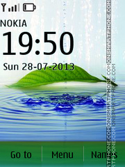 Nature Water Drops tema screenshot