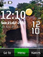 Waterfall Live Clock es el tema de pantalla