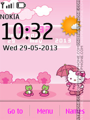 Hello Kitty Live Theme 01 tema screenshot