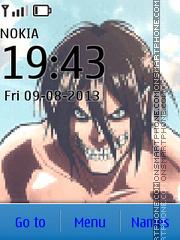Shingeki No Kyojin Titan theme screenshot