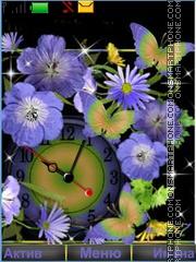 Скриншот темы Flowers Butterfly