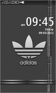 Adidas full theme screenshot
