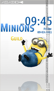 Minions Full Touch theme screenshot