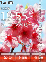 Pink Flowers 11 theme screenshot