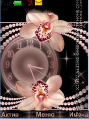 Orchids and pearls theme screenshot