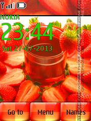 Strawberry 14 theme screenshot