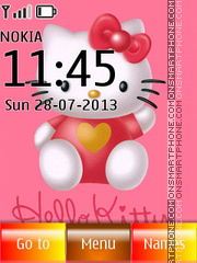 Hello Kitty 48 theme screenshot