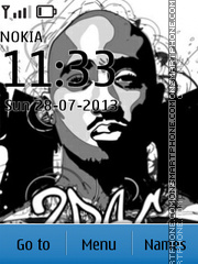 Tupac Shakur 02 theme screenshot