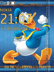 Donald Duck 21 theme screenshot